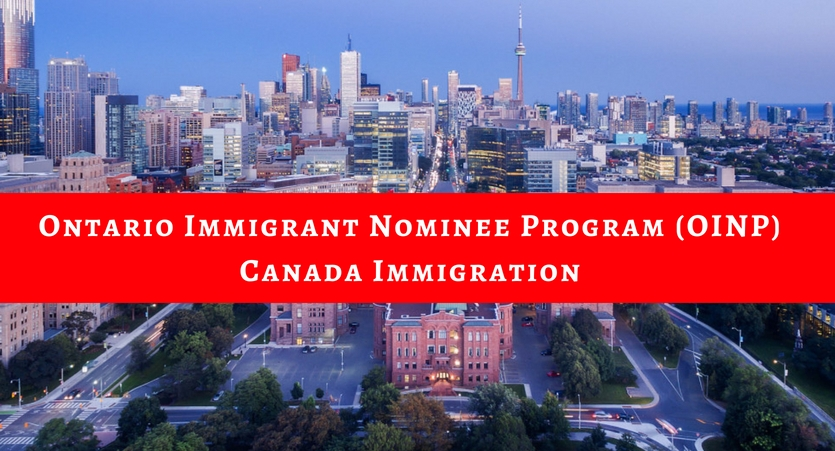 Ontario Immigrant Nominee Program OINP Canada Immigration